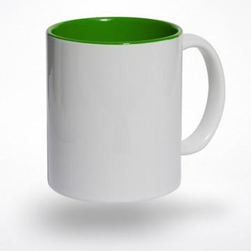 Puodelis žaliu vidumi
