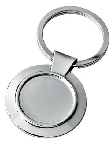 Dvipusis apvalus raktų pakabukas