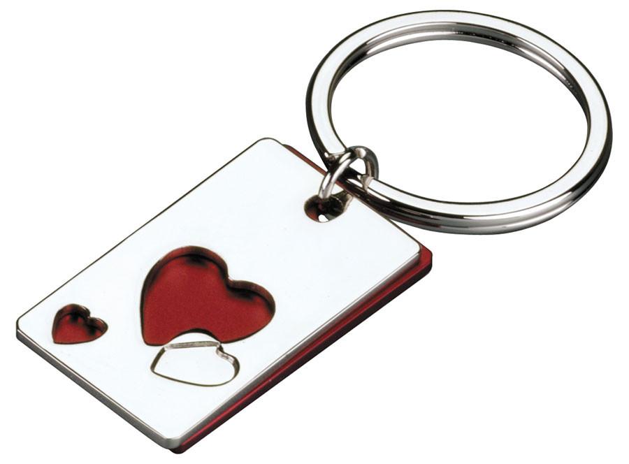 Dviejų dalių raktų pakabukas su širdele