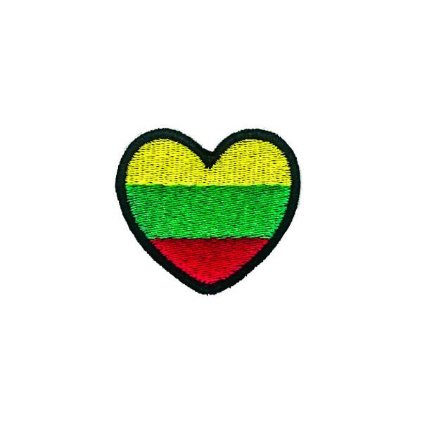 Antsiuvas trispalvė širdelė