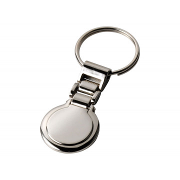Elegantiškas apvalus raktų pakabukas