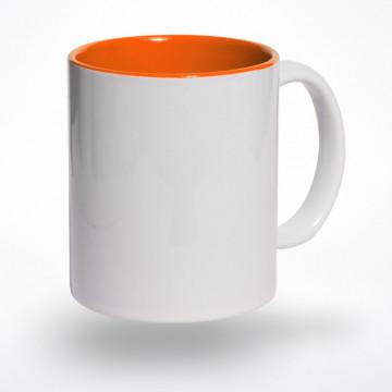 Puodelis oranžiniu vidumi