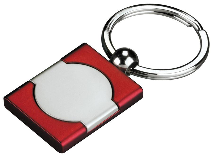 Originalus raudonas raktų pakabukas