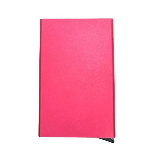Metalinis iššokantis kreditinių kortelių dėklas, raudonas