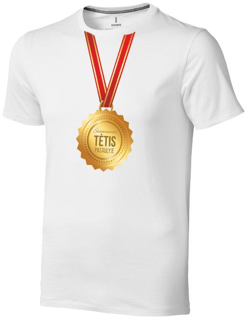 """Marškinėliai su medaliu """"Šauniausias tėtis pasaulyje"""""""