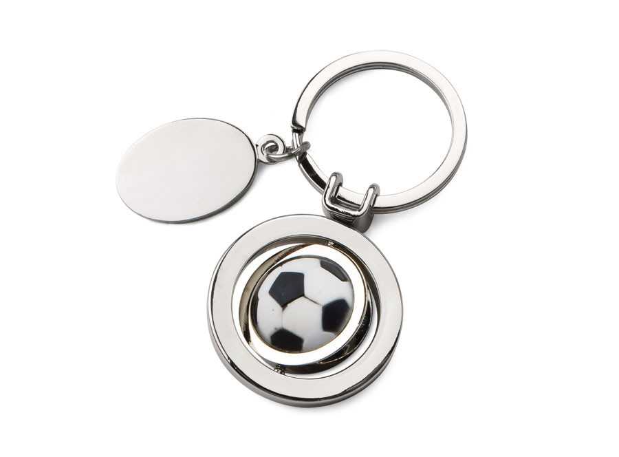 """Raktų pakabukas """"Sukamas futbolo kamuolys"""""""