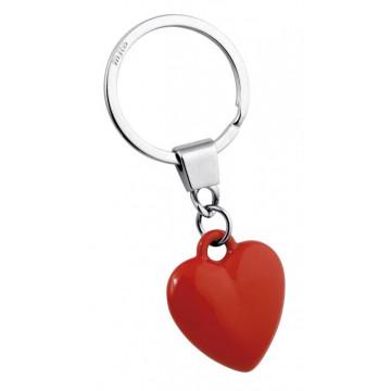 """Raktų pakabukas """"Raudona tūrinė širdelė"""""""