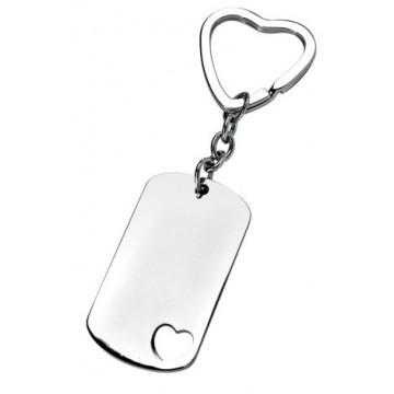 ID formos raktų pakabukas su širdele