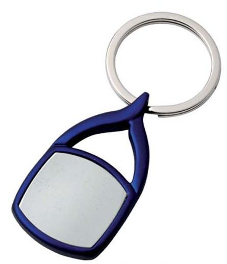 Elegantiškas mėlynas raktų pakabukas