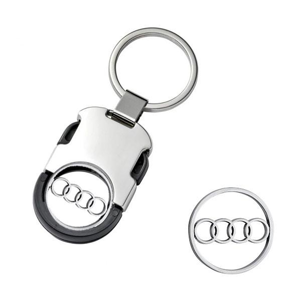 Raktų pakabukas Audi su žetonu