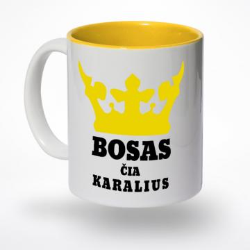 Puodelis bosas čia karalius