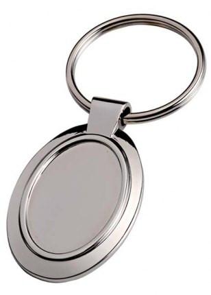 Ovalios formos vientisas raktų pakabukas