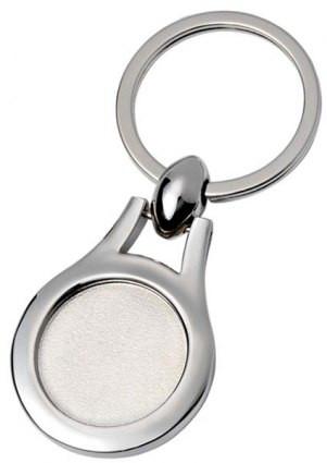 Dekoruotas apvalus raktų pakabukas