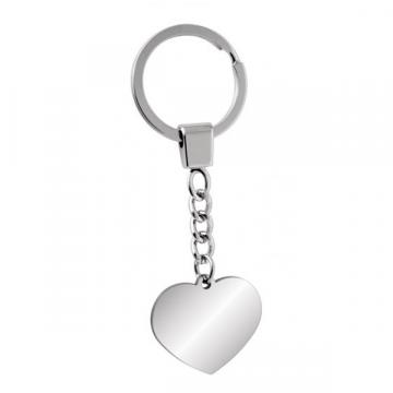 """Nerūdijančio plieno raktų pakabukas """"Širdelė"""""""
