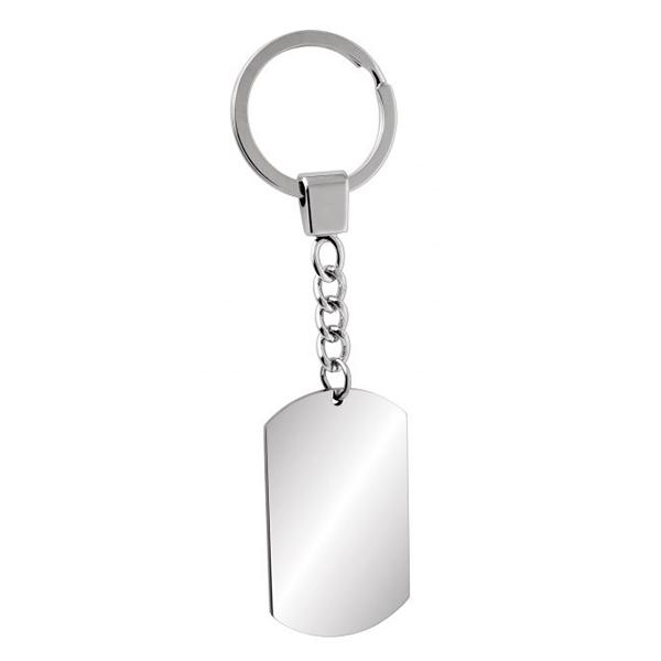 """Nerūdijančio plieno raktų pakabukas """"ID formos"""""""