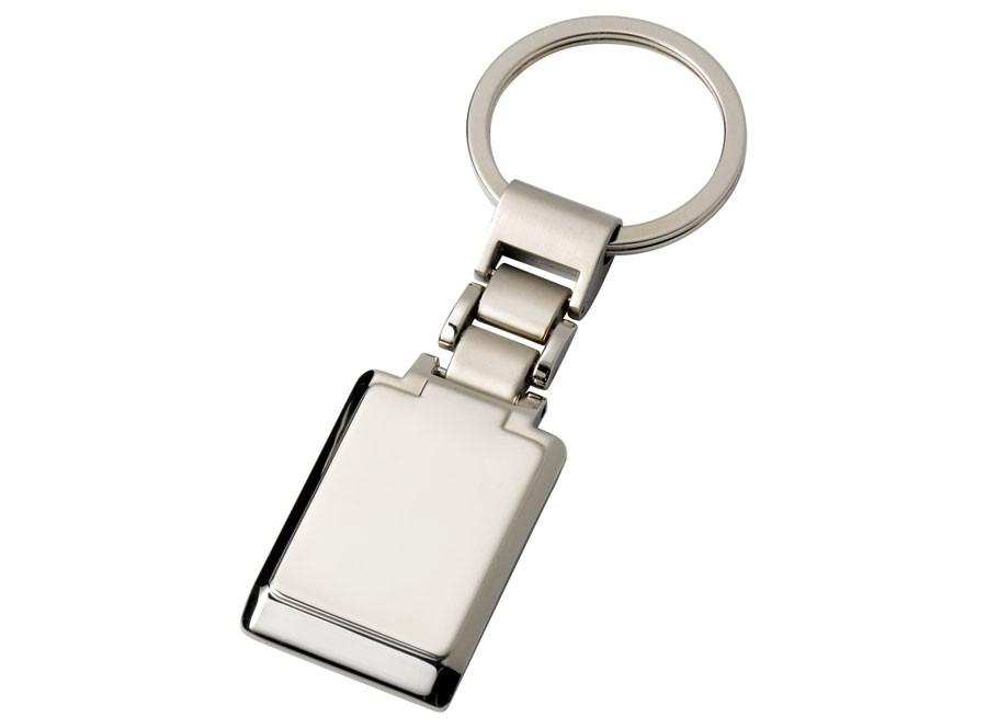Elegantiškas kvadratinis raktų pakabukas