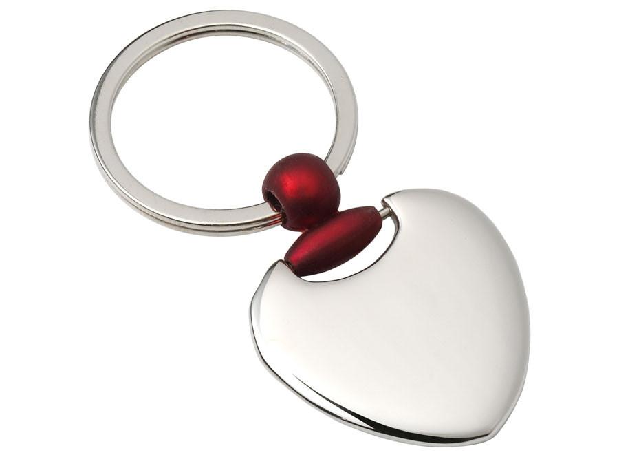 """Dekoruotas raktų pakabukas """"Širdelė"""""""