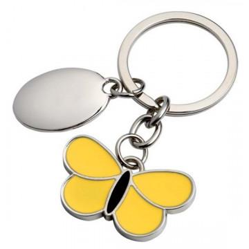 """Raktų pakabukas """"Geltonas drugelis"""""""