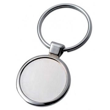 Įdubęs apvalus raktų pakabukas