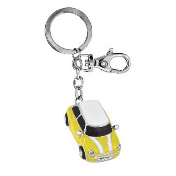 """Raktų pakabukas """"Mini Cooper"""", geltonas"""
