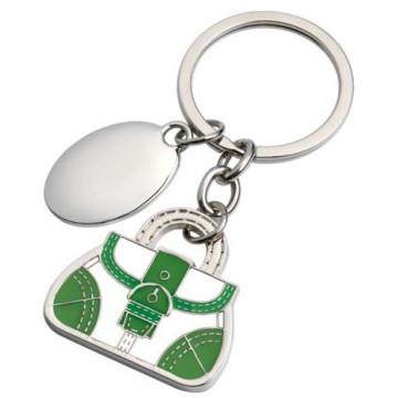 """Žalios spalvos raktų pakabukas """"Rankinukas"""""""